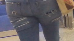 Teen in suede pants