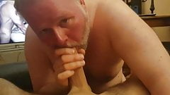 Chubby Sucking Cock and drink Sperm