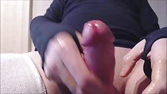 My solo 95 (Teasing lubed prick and extremely close cumload)