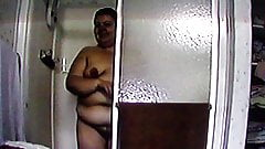 BBW caught getting out of the shower