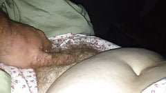 uncovering her soft hairy pussy & soft tit & nipple