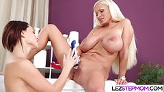 Cougar loves her stepdaughter
