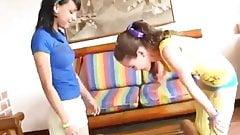 2 sisters teens lesbians