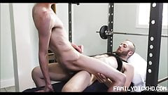 Hot Skinny Twink Step Son Sex With Step Dad During Workout