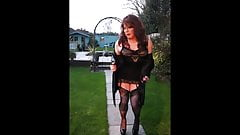 Sindy flashes outdoors