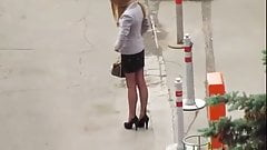 Street prostitute waiting for customer 2