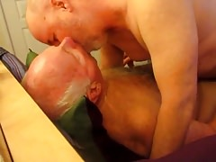 Silver Daddies Suck Face And Suck Cock.