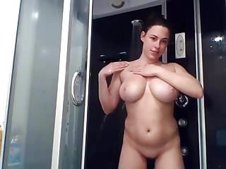 Thick Naked Girl Great Tits Shower Show