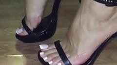 Arab feet french pedicure high heels