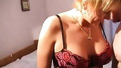 mature blonde rides on the dick