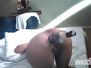 Preview 4 of Brutal anal fisting and XL whiskey bottle fuck