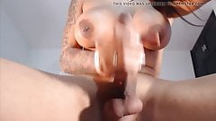 Big Cock Shemale Masturbation Cum