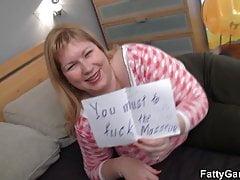 Busty big belly plumper seduces a masseur