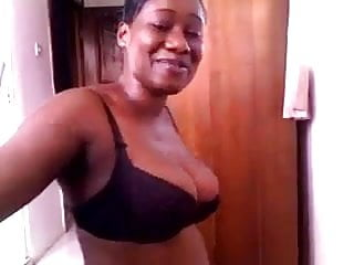 Bridget from Ghana strips and shows all