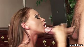 Huge Dick Boy Seduce Hot Office Bitch to Fuck her Ass