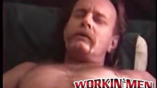 Nasty old man has solo fun in cheap motel room by wanking