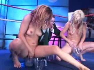 Blonde Skinny Perky Teen Slut Reality Risky Public Flashing in Elevator
