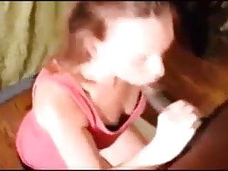 homemade guy films teen girlfriend bbc blowjob facial