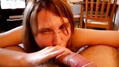 British girl feeds on spunk