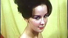 TOO MUCH - vintage leggy brunette striptease 60s