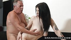 Sore after work,busty niece wants some cock from granddad