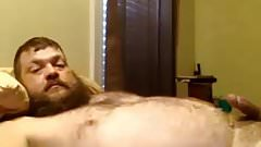 Quick cum from a hot daddy bear