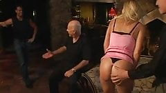 Stunning blonde housewife wraps her lips around a hard cock then fucks