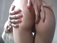 German girl dirty talk shows ass