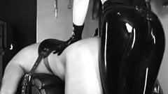 Mistress pegging slave