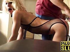 Nora Barcelona deepthroats his big cock and get slammed hard