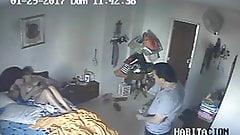 Family on holiday - Hidden cam