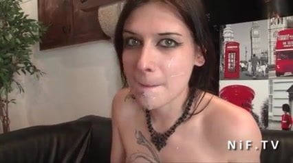 Sublime small titted french slut hard and deep anal fucked