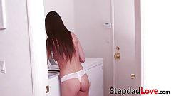 Stepdad is eager to bang his hot stepdaughter Lily Adams