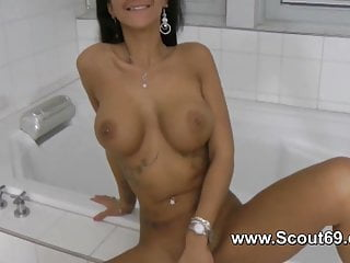 German Teen step sister pov give handjob massage