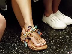 Candid indian girl feet