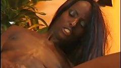 Ebony bitch butt-banged