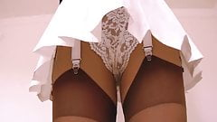 Tennis Skirt White Lace Panties