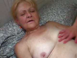 OldNanny Small old granny masturbates