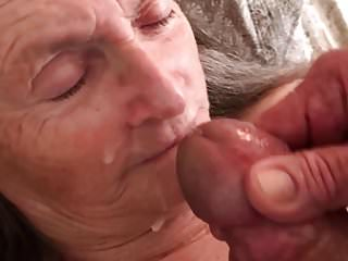 Grandma loves cum on her face