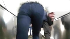 Girl with nice ass in black jeans