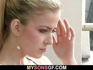 Lovely blonde seduces not her hung stepdad