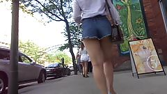 Asian Nation In Jean Shorts Very Loose & Cheeky