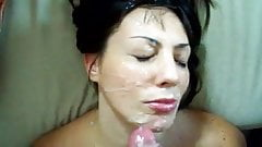 huge amateur facial cumshot
