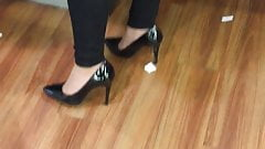 Sexy milf stilettos high heels candid fetish