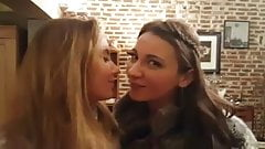 katya clover and julie skyhigh lesbian kissing at the table