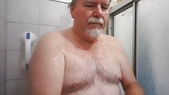Daddy showers and cums