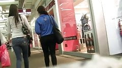 Couple Nice Ass Teens Shopping