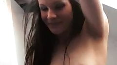 Sexy Liv in the lingerie tease in the bathroom