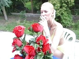 Minnesota cigarette smoking escorts - Shaved blonde smokes cigarette and fucks outdoors