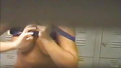 Voyeur locker room Big Tits